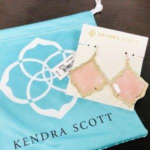 KENDRA SCOTT • Kirsten Drop Earrings • Rose Quartz
